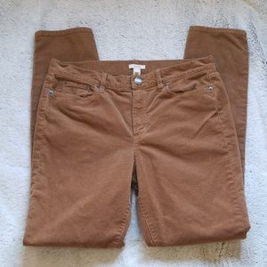 J. Crew corduroy jeans High Rise skinny size 32